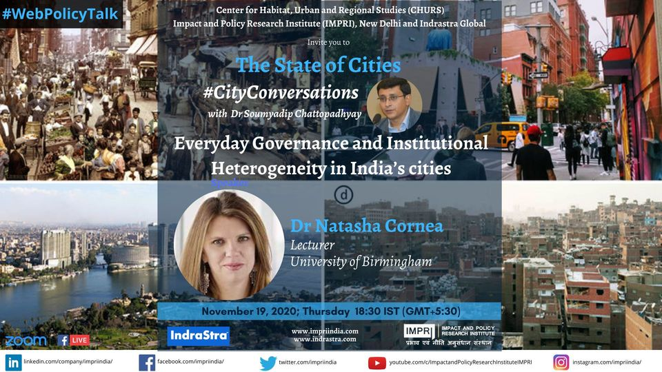 Dr Natasha Cornea _ #CityConversations with Dr Soumyadip Chattopadhyay