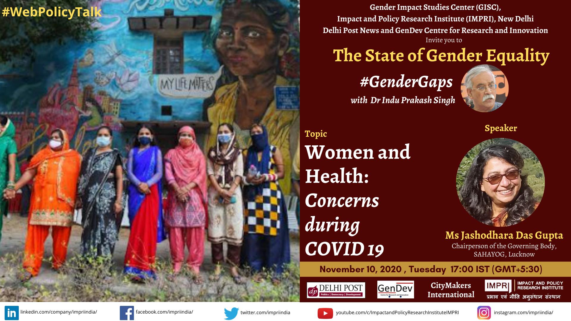 GenderGaps Jashodhara Das Gupta Women and Health