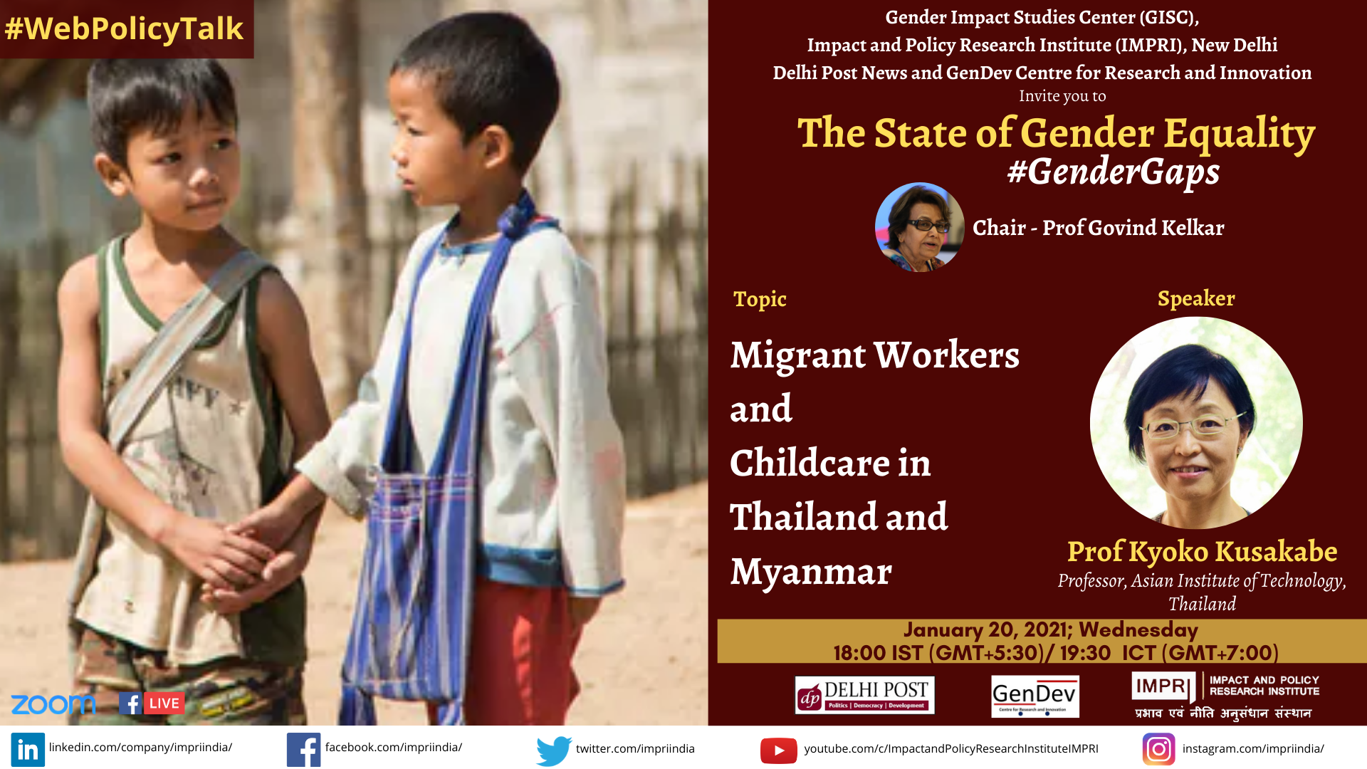 Kyoko Kusakabe Migrant Workers and Childcare in Thailand and Myanmar 2