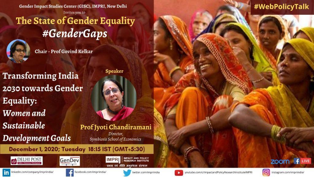 Jyoti Chandiramani_Transforming India 2030 towards Gender Equality_ Women and Sustainable Development Goals