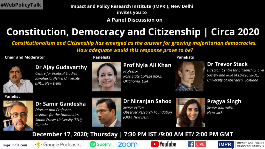 Panelists-Panel Discussion on Constitution, Democracy and Citizenship_Circa 2020