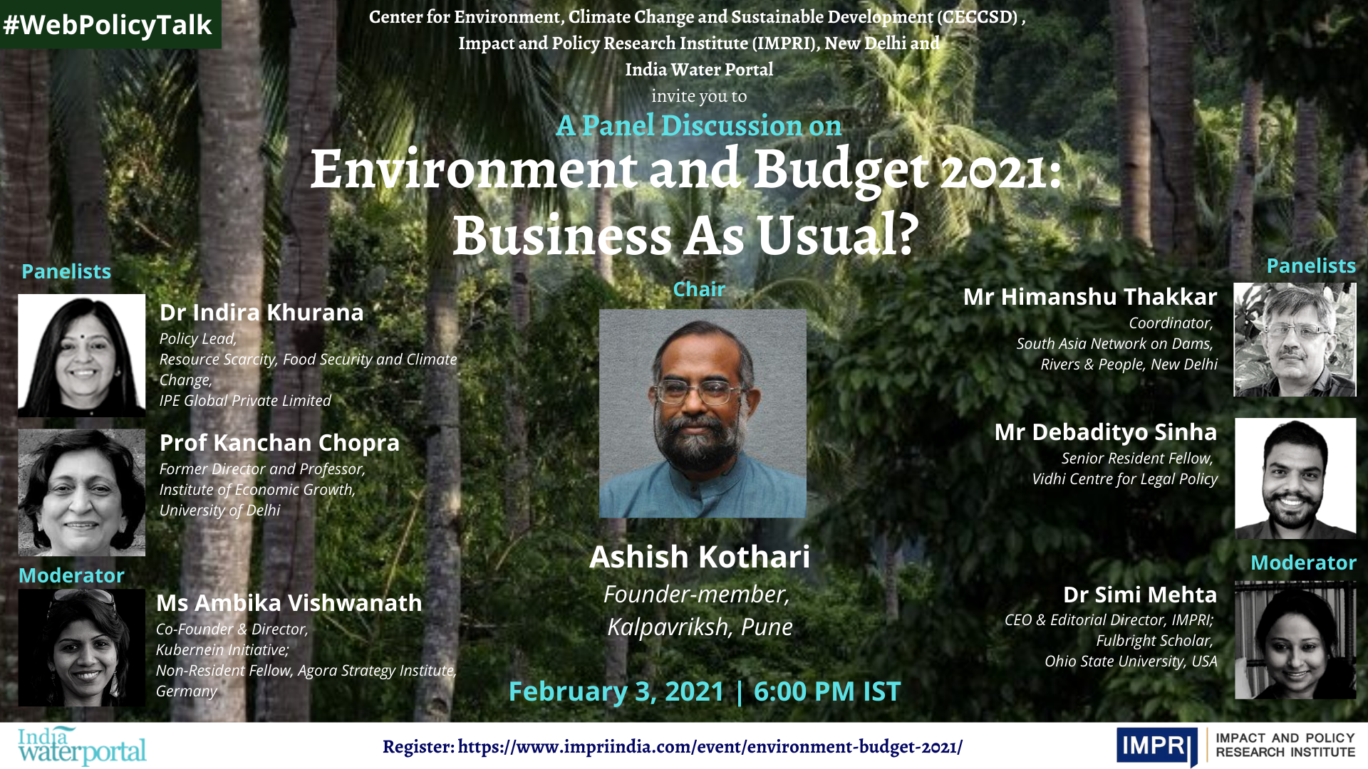 Environment and Budget 2021: Business As Usual?