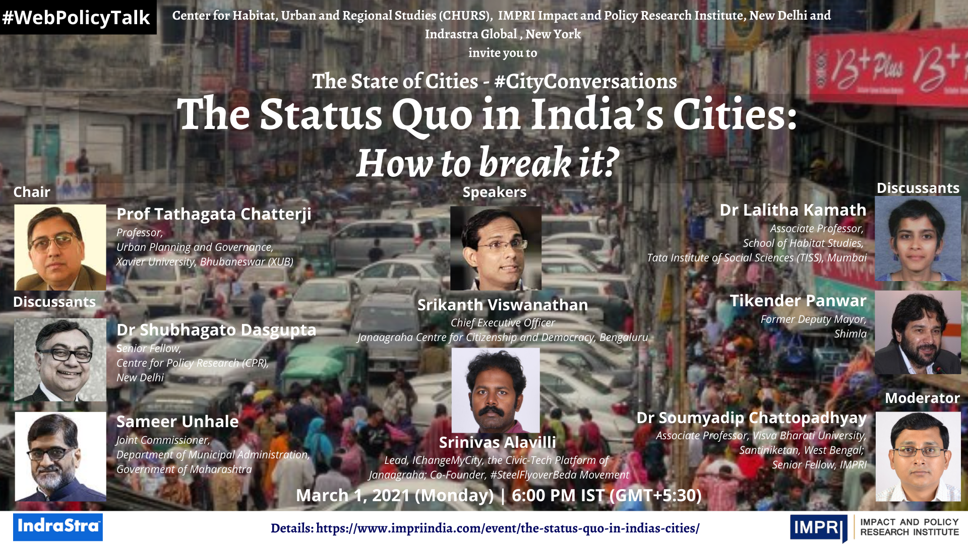 The Status Quo in India's Cities: How to break it?
