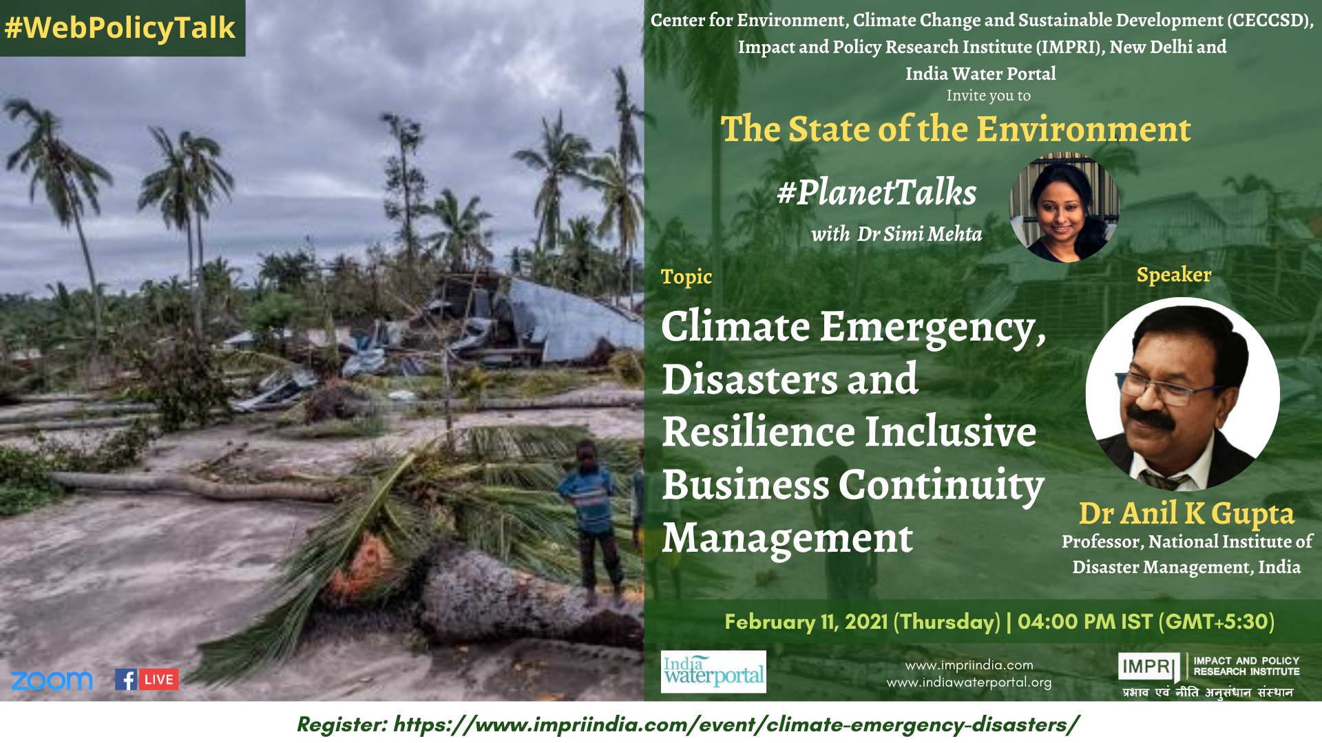 Climate Emergency, Disasters and Resilience: Inclusive Business Continuity Management