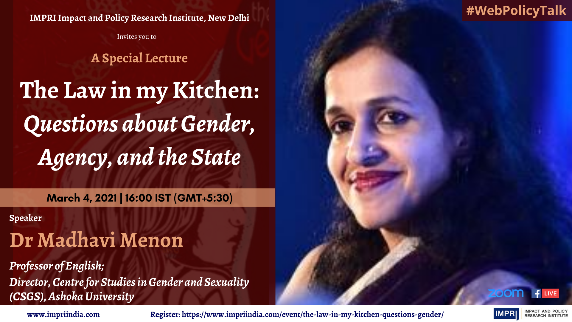 Madhavi Menon The Law in my Kitchen Questions about Gender Agency and the State