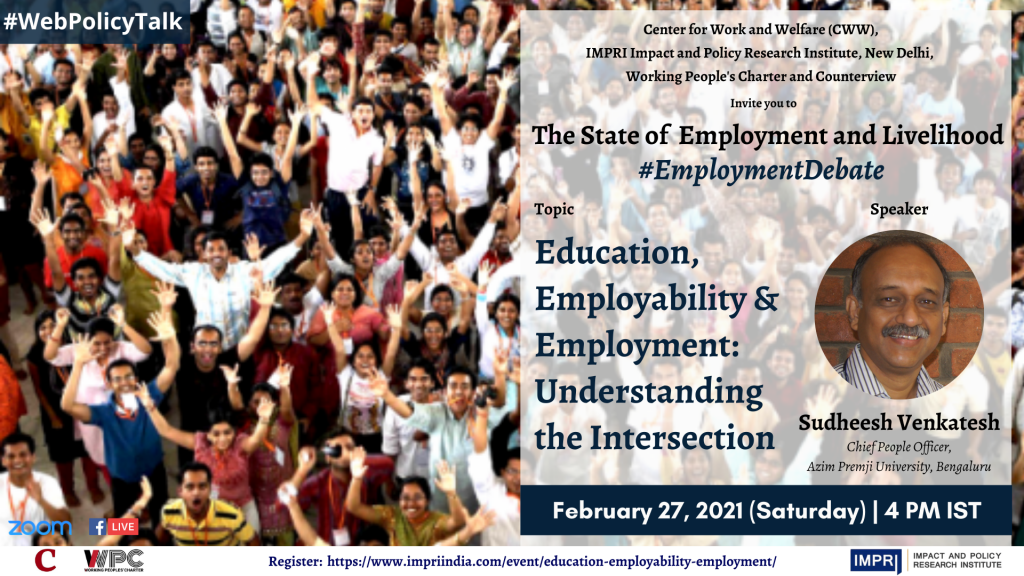 Sudheesh Venkatesh_Education, Employability & Employment_ Understanding the Intersection