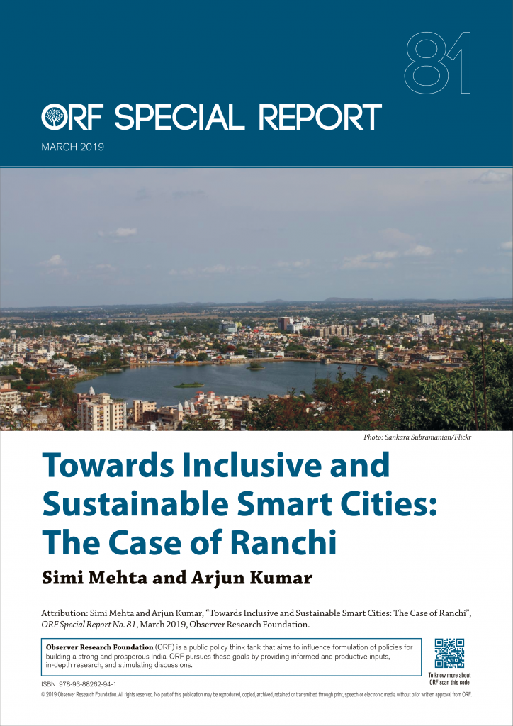 Towards Inclusive and Sustainable Smart Cities: The Case of Ranchi