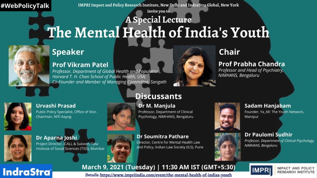 Prof Vikram Patel_Mental Health of India's Youth