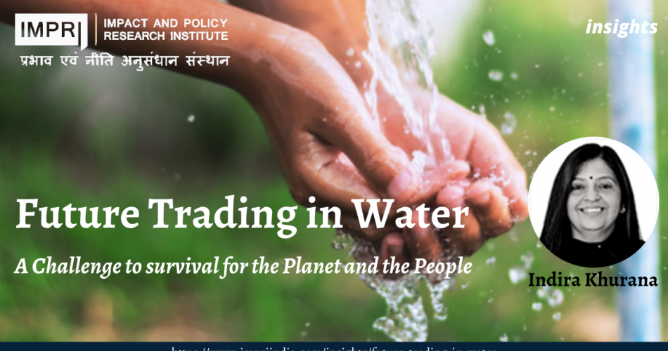 Future trading of water