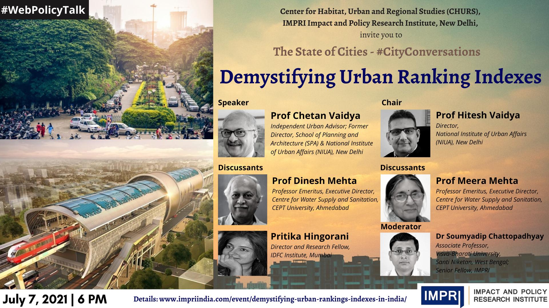 Demystifying Urban Ranking Indexes in India