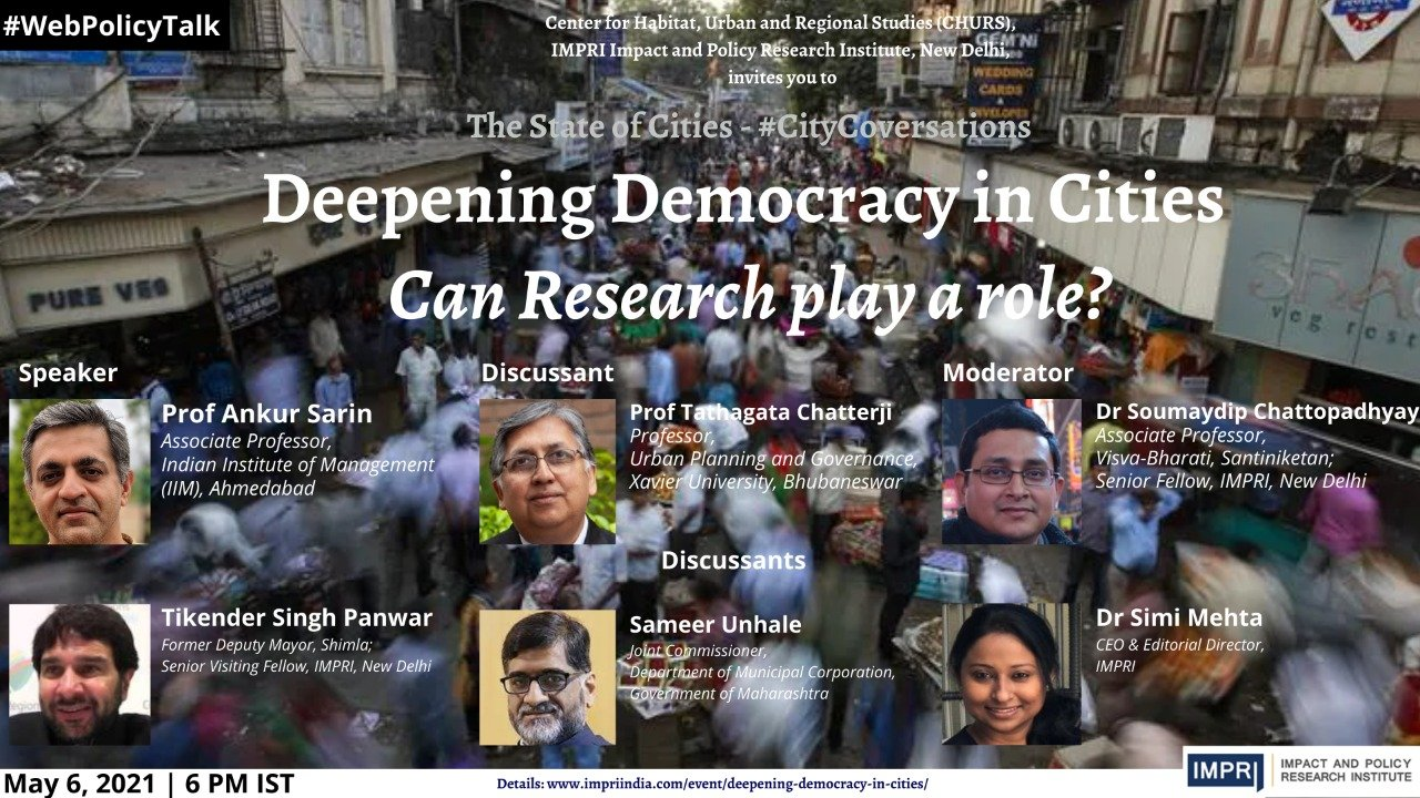 Deepening Democracy in Cities: Can Research play a role?