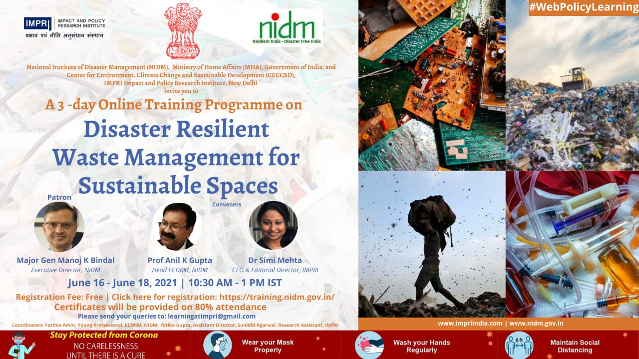 Disaster Resilient Waste Management for Sustainable Spaces