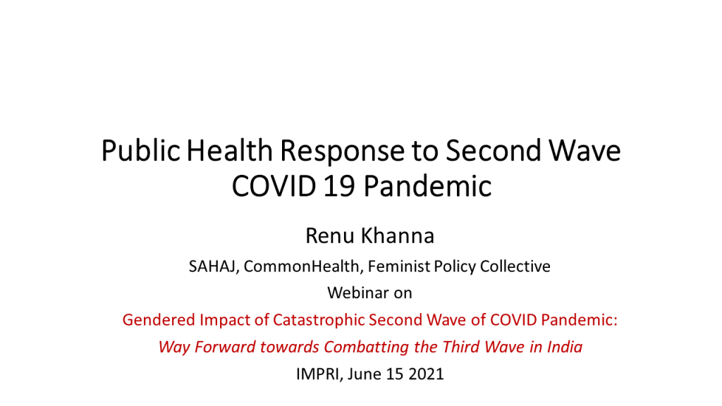 Public Health Response to Second Wave COVID 19 JUNE 15