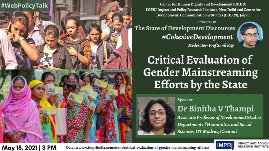 Binitha V Thampi Critical Evaluation of Gender Mainstreaming Efforts by the State 2