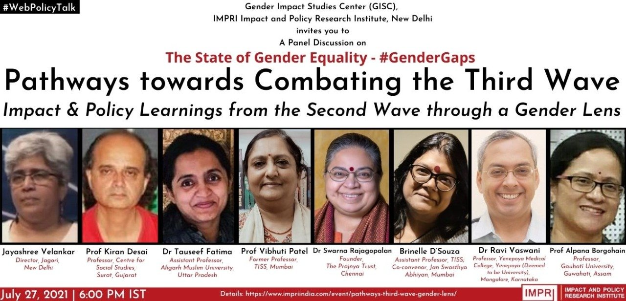 Pathways towards Combating the Third Wave: Impact and Policy Learnings from the Second Wave through a Gender Lens