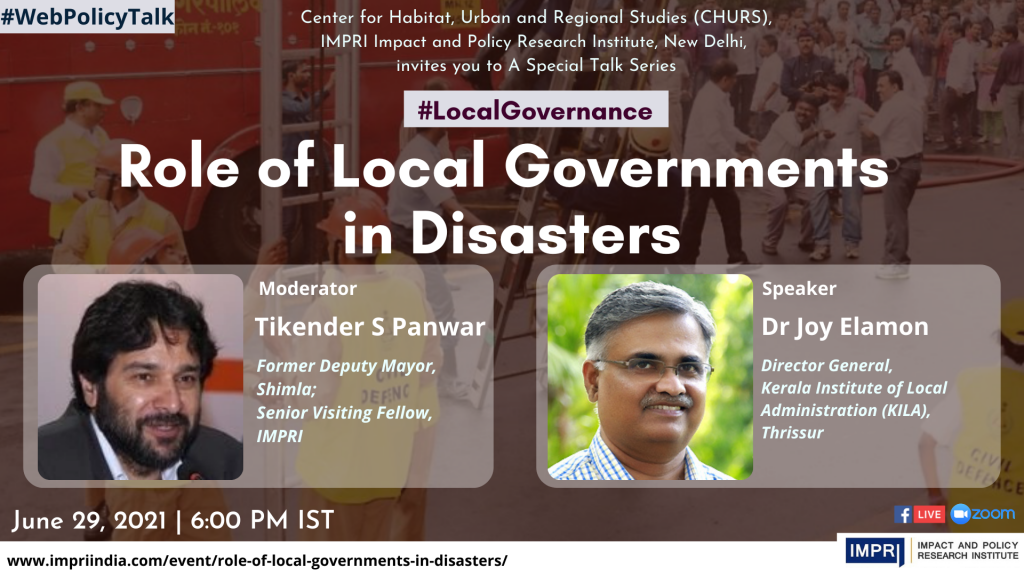 Role of Local Governments in Disasters 1