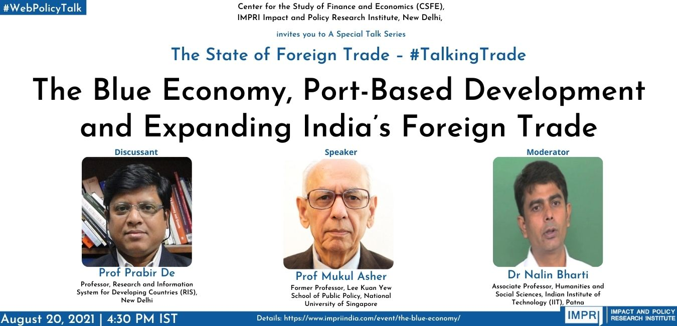 The Blue Economy, Port-Based Development and Expanding India's Foreign Trade
