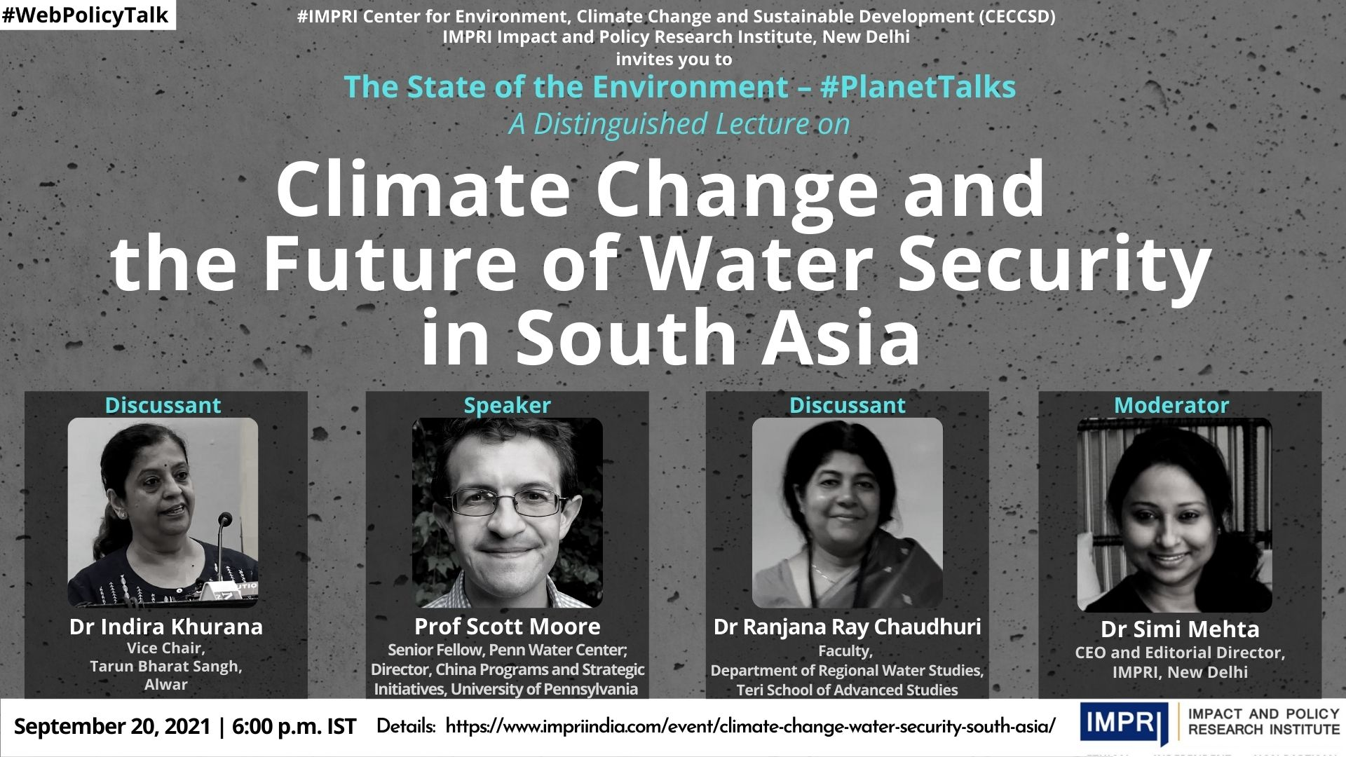 Climate Change and the Future of Water Security in South Asia