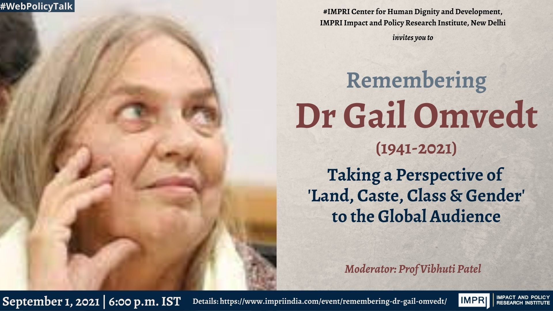 Remembering Dr Gail Omvedt: Taking a Perspective of 'Land, Caste, Class & Gender' to the Global Audience