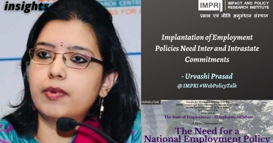 Implantation of Employment Policies Need Inter and Intrastate Commitments
